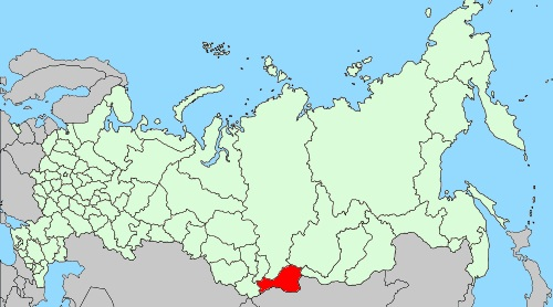Map of Russia - Tuva Republic