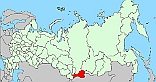 Map of Russia Tuva Republic