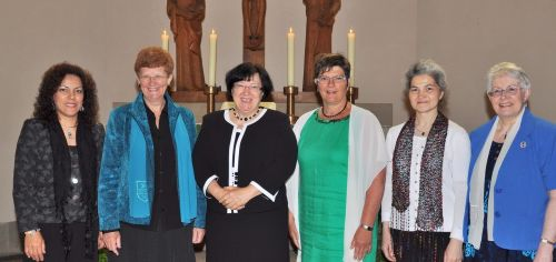 Newly elected EBWU Executive Committee (from left to right): Dimitrina Oprenova, Wies Dijkstra,              Aniko Ujvari, Synnove Angen, Fabienne Seguin, Margaret Brown