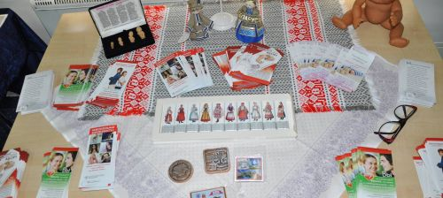 Table with materials