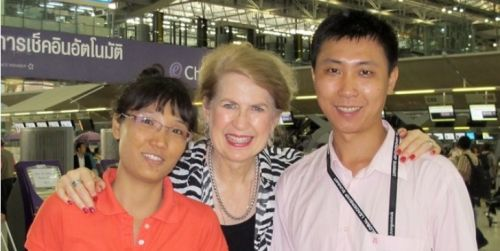 May and her husband with me in Bangkok, Thailand